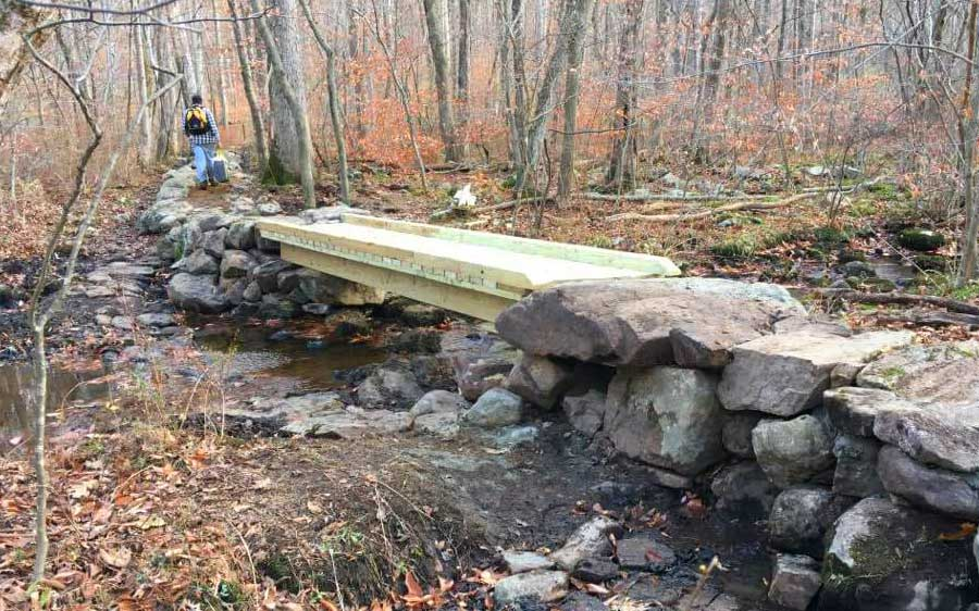 Many existing trails in New Jersey suffer damage with every rain. Low lying trails collect water .... together we repair trouble areas for all trail users to benefit....