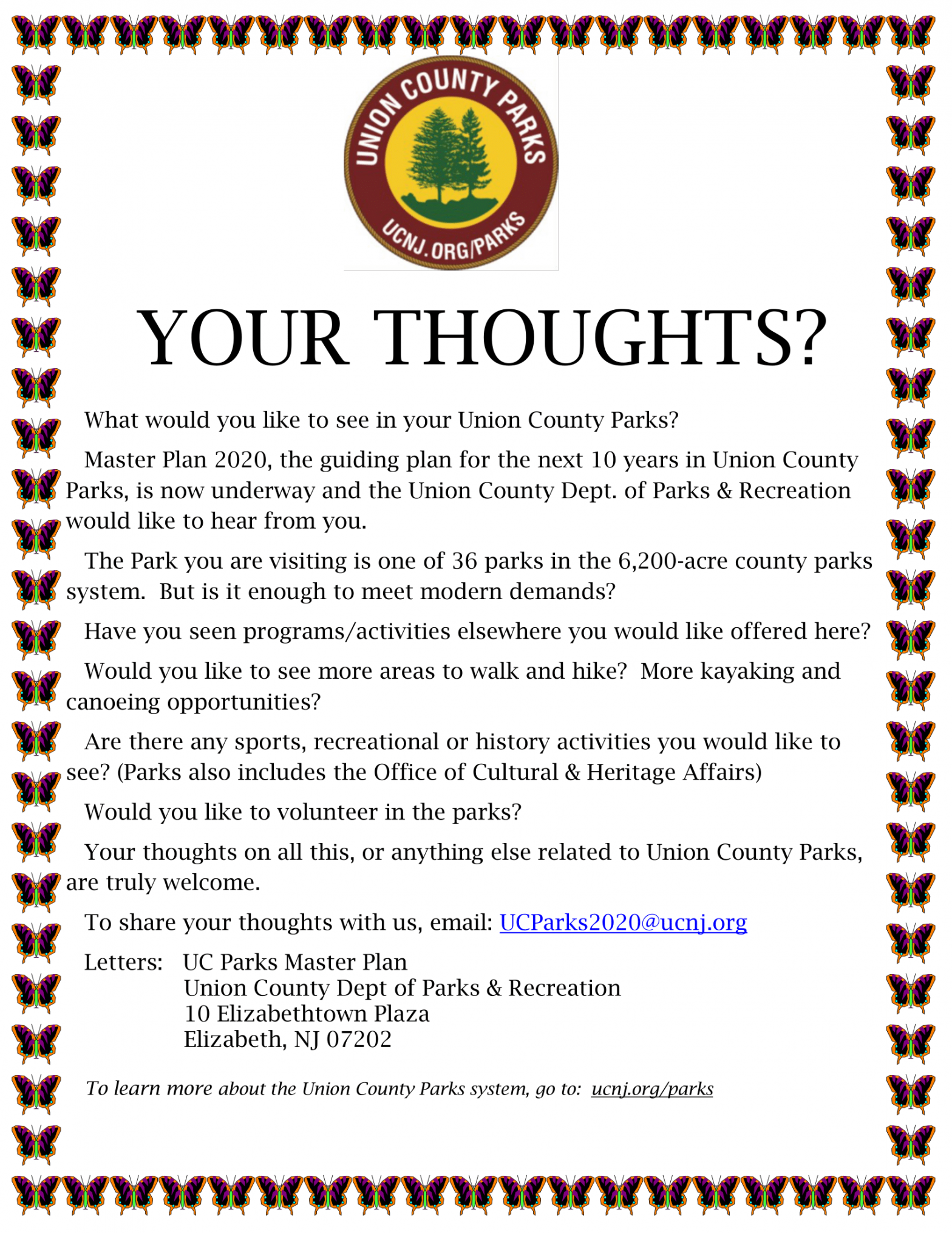 UC wants your thoughts